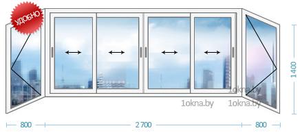 Алюминиевые балконные рамы в бресте. большой выбор!.