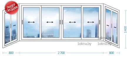 Практичные алюминиевые балконные рамы