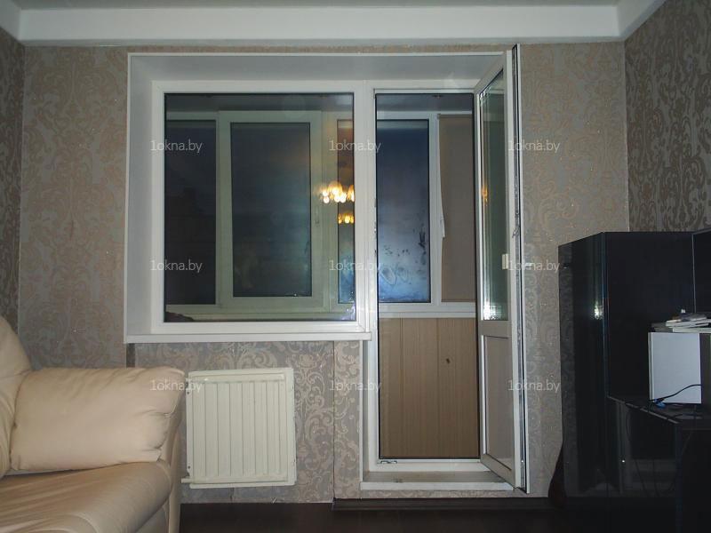 Установка балконного блока в панельном доме.